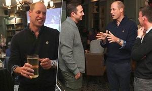 Princ William sledoval potupu anglické fotbalové reprezentace v jedné z londýnských hospod