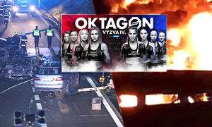 Auto s bojovnicemi z reality show Oktagon Výzva se stalo přímým účastním hrozivé dopravní nehody na D1, při níž uhořel jeden člověk!