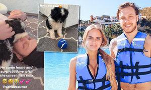 Pastrňák dojal svoji krásnou švédskou přítelkyni! Přivedl jí nového člena rodiny