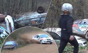 Horor na rallye. Šest aut na šrot. Nad děsivou zatáčkou kroužila smrt!