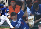 Fanoušek Los Angeles Dodgers se sápal po míči na úkor jídla...