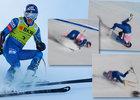 Hrůzostrašný pád amerického lyžaře Tommyho Forda.