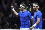 Potlesk vestoje pro legendy. Na čtyřhru s Rafou nezapomenu, zářil Federer
