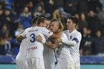 Fotbalisté Baníku se radují z vyrovnání v zápase proti Karviné