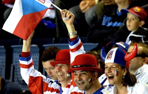 Fanoušci české hokejové reprezentace na MS na Slovensku