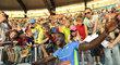 Justin Gatlin slaví vítězství na Zlaté tretře