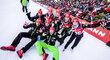 České biatlonistky slavily další parádní výsledek