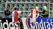 Radost fotbalistů Slavie ze vstřelené branky