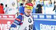 Ondřej Moravec se raduje ze druhého místa v závodě SP v Kontiolahti