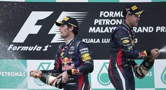 Piloti Red Bullu Vettel s Webberem ukončili aféru podáním ruky