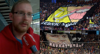 Kreativní fans Hradce: Nejlíp se choreo dělá na derby a Lubinu