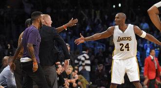 Vyčerpaný Bryant nejlepším výkonem sezony přispěl k výhře Lakers
