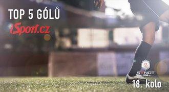 TOP 5 gólů 18. kola: Probuzení Baníku a Costova akrobacie