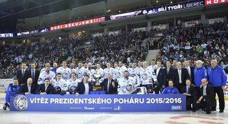 Liberec to dokázal! Ovládl základní část a převzal Prezidentský pohár