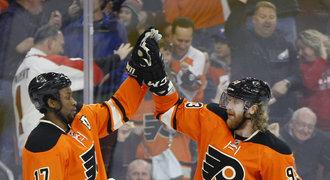 Voráček táhl Flyers za vítězstvím, útočník Michálek v sezoně dohrál