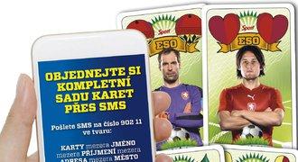 Objednávejte si originální karty s českými fotbalisty přes SMS