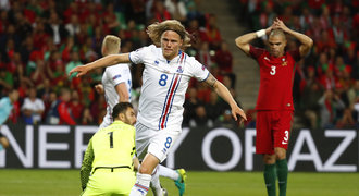 Portugalsko - Island 1:1. Ronaldo se neprosadil, Seveřané slaví bod