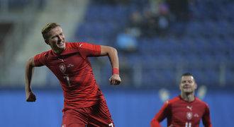 VIDEO: Česko - Dánsko 1:1. Barák se trefil při debutu, hosté srovnali