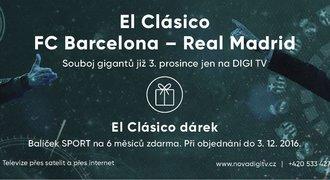 El Clásico na DIGI TV s balíčkem SPORT na půl roku zdarma