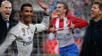 Speciální srovnání před derby: Real má super žolíky, Atlético detailní plán