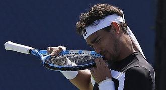 Fognini byl za urážky vyloučen z US Open, o grandslamy může přijít doživotně