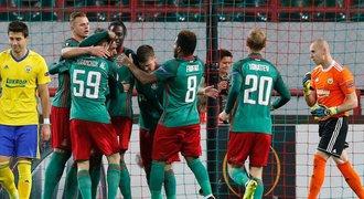 Lokomotiv Moskva - Zlín 3:0. Ševci propadli v úvodu, manko nestáhli