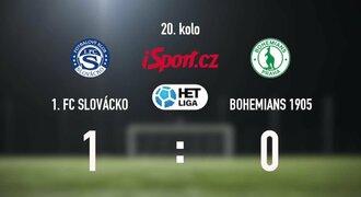 CELÝ SESTŘIH: Slovácko - Bohemians 1:0. Důležitou výhru vystřelil Daníček