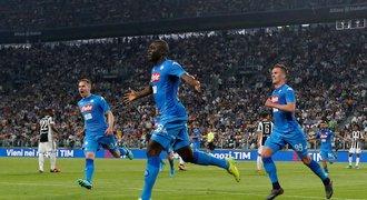Schick se poprvé trefil v Serii A, Neapol ve šlágru vyloupila Juventus