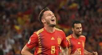 Španělé v Lize národů zdolali Anglii, pomohl neuznaný gól. Island vyhořel