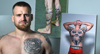 Pod kůží Patrika Kincla! Bijec odkryl tetování: první lebka a největší bolest