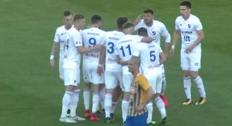 SESTŘIH: Baník - Opava 2:0. Slezské derby patří Ostravě. Pálili Diop a Hrubý