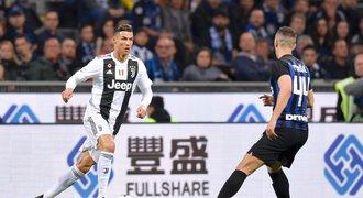 Ronaldo 600. klubovým gólem zařídil remízu s Interem, AS Řím je čtvrtý