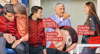 Luxusní diváci Plíšková s Hrdličkou: Ohoz za statisíce a vtipkování s Donutilem!