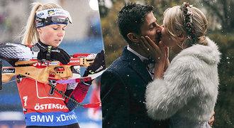 Biatlonistka Puskarčíková se vdala. Stejně jako Koukalová hazardovala se svatbou!