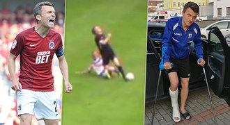 Tvrdý trest! Obránce, který zlomil Lafatovi nohu, bude rok bez fotbalu