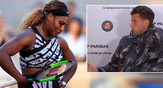 Zmiz, jde hvězda. Nasupená Serena ukončila v Paříži Thiemovu tiskovku