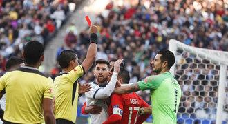 Červená po 670 zápasech. Messi musel ze hřiště, Argentina přesto má bronz