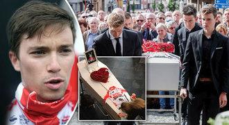 Pohřeb cyklisty Lambrechta (†22): zhroucená sestra a plyšák místo fotky!