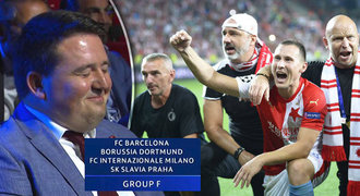 Barca, Dortmund a Inter?! Smích člena vedení Slavie po losu baví fanoušky