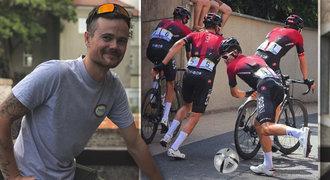 Žere ho Cink i Moravec. Na Instagramu si utahuje z profi cyklistů. Proč?