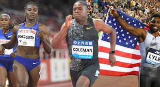 NEJ hvězdy MS v atletice: Boltův klon i ten, který skočí na hranu pískoviště