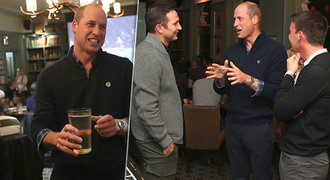 William sledoval potupu Anglie proti Česku v hospodě: Šokovaný princ!