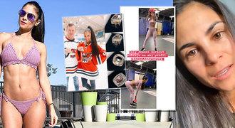 Česká bikini fitnesska za velkou louží. Jak dává do těla hokejistům i sobě?