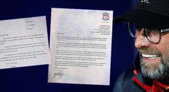Naivní dopis malého fanouška United Kloppovi. Odpověď baví Anglii!