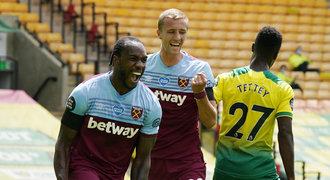 Souček u gólového představení. Antonio dal čtyři góly, Norwich sestupuje