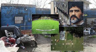 Osudová Maradonova místa dnes: rodný dům je ruina, stadiony a hrob