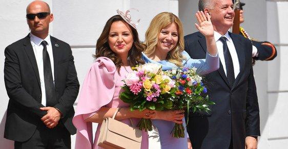 Martina Kisková a Zuzana Čaputová se sladily do pastelových barev