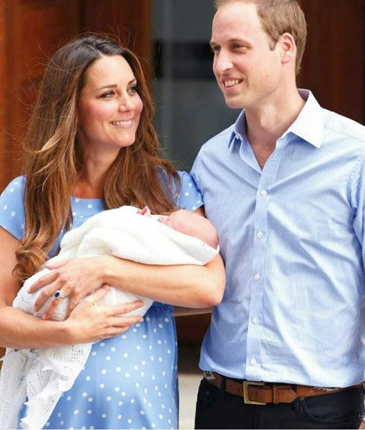 Královský pár s princem Georgem v roce 2013
