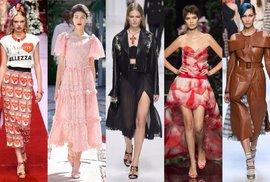 Trendy z Milána: Růže, sicilské vdovy & potisky od hlavy až k patě