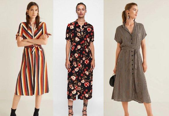 Podzimní šaty, které si zamilujete: Pruhované, košilové i se zvířecími vzory!